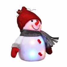 LED Snowman Figurine Deco Christmas Winter Advent Window Colourful Illuminated