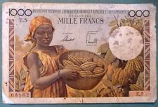 FRENCH EQUATORIAL  AFRICA & CAMEROUN 1000 FRANCS NOTE FROM 1957, P 34, CAMEROON