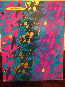 Vintage 1995 Mead Super Shades 2 Pocket Folder~3 Hole Punch~33114