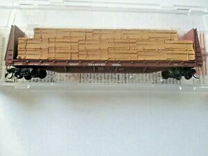 Micro-Trains # 05400290 Seaboard 61' Bulkhead Flat Car with Lumber Load N-Scale