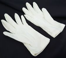 Vintage Stetson Gloves white Nylon with mesh sides for summer Womens One Size