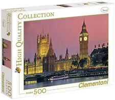 """CLEMENTONI """"London House del Parlamento"""" Puzzle (500-Pezzo, Multi-colore)"""