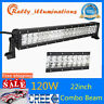 """22"""" 120W CREE LED WORK LIGHT BAR SPOT FLOOD DRIVING FOR OFFROAD TRUCK BOAT JEEP"""