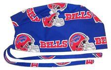Surgical Scrub Hat Cap Made with Buffalo Bills Nfl Fabric Nurse Chemo Er Skull
