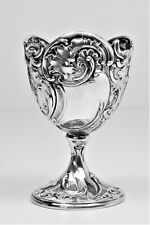 Egg cup relief work antique solid silver beautiful – 19th century