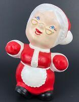 VTG Christmas Plaster Figurine Misses Santa Claus Homemade Statue Figure