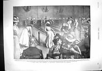Old 1900 Ladies Skittles Berlin Germany Steinitz Robinson Queen'S Cup 20th