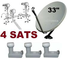 "33"" SUPER SATELLITE DISH NETWORK LNB 110-118.8-119-129  HD ANIK F3 HD FTA 118 30"