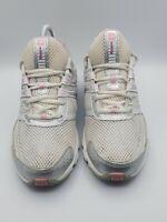 New Balance 615 women's size 8.5 running walking shoes white/gray/pink
