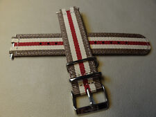 HIGH QUALITY Southern Straps Nylon Brown Red Stripe 22mm Smartwatch Watch Band