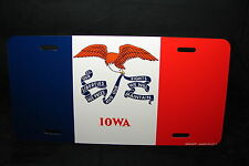 IOWA STATE FLAG METAL LICENSE PLATE TAG FOR CARS