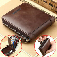Wallet Men's Short Wallets Casual PU Zipper Coin Purse Male Card Holder Wallet