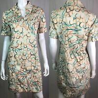 $158 Lilly Pulitzer Women's 4 Khaki Cuffed Sleeve Tunic Flare Shift Shirt Dress
