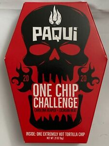 NEW PAQUI 2020 ONE CHIP CHALLENGE CAROLINA REAPER .21 OZ (6g) COFFIN BOX BUY NOW