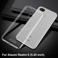 For Xiaomi Redmi 6 Case Transparent Clear Silicone Slim Gel Cover