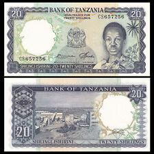 Tanzania 20 Shillings, ND(1966), P-3e, UNC