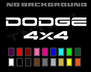 Dodge Dakota Ram 4X4 tailgate Truck Sport Off Road Decal Set Vinyl Stickers