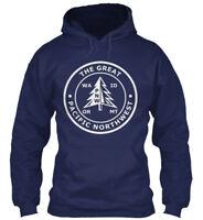 Pnw Pacific Northwest S - The Great Wa Id Or Mt Gildan Hoodie Sweatshirt