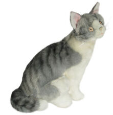 *NEW* BOCCHETTA - OSLO GREY NORWEGIAN CAT KITTEN SITTING SOFT PET PLUSH TOY 25cm