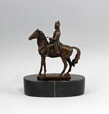 9937632-ds Bronze Sculpture Sign.a.canova Napoléon à Cheval Base de Pierre