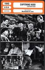 CAPITAINE KIDD - Laughton,Scott,Britton (Fiche Cinéma) 1945 - Captain Kidd