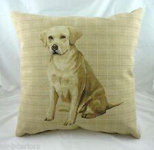 """18"""" Golden Labrador Breeds Puppy Dog Belgian Tapestry Cushion  - Evans Lichfield"""