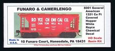 LMH Funaro F&C 8001 ROYCE CHEMICAL General American Covered Hopper  White Decals