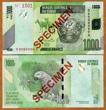 Specimen, Congo D. R., 1000 (1,000) Francs, 2005 (2012), P-New, UNC