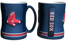 Boston Red Sox Blue Coffee Mug - 14oz Sculpted [NEW] Tea Warm Microwave Cup CDG