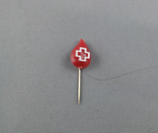 Canada Red Cross - Vintage Blood Droplet Pin - Made of plastic