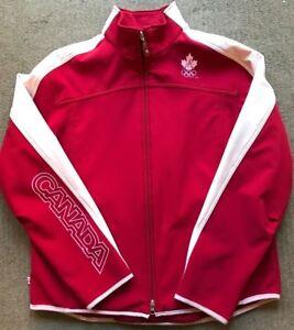 2006 CANADA Winter Olympics HUDSONS BAY HBC Soft Shell Fleece Lined Jacket Sz L