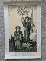 Antique Print The Annunciation hail Mary full of grace Henderson litho Blessed