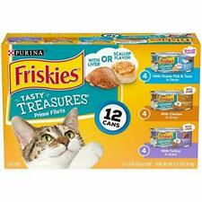 LOT OF 2-12 cans of Purina Friskies Tasty Treasures Prime Filets. Variety Pack.