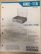 Sony Service Manual for the HME-118 Stereo Music System ~ Repair