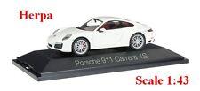 Porsche 911 Carrera 4S Coupé blanche - HERPA -  Echelle 1/43