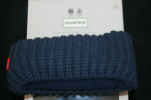 HUNTER Wellie TALL BOOT SOCKS Navy BLACK White SWEATER Cable FLEECE LARGE L 8 10