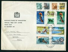 More details for tanganyika 1961 independence set of 12 on fdc - kilimanjaro expedition - dg294