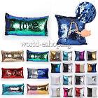 Magic Reversible Mermaid Sequins Pillow Case Cushion Cover Sofa Waist Home Decor