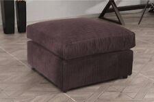 New Bajna Jumbo Cord Chocolate Fabric Footstool Pouffe Ottoman Stool Soft