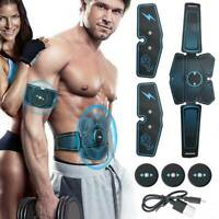 Abdominal Muscle Toner EMS Muscle ABS Stimulator Trainer Body Fit Belts Training