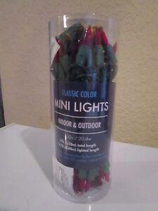 PINK 50 MINI LIGHTS INDOOR/OUTDOOR EASTER WEDDING PARTY NIP