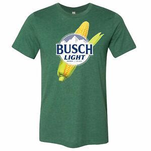 Busch Light Beer Corn Logo T-Shirt Green