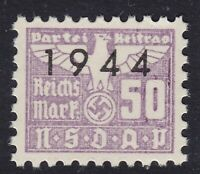 Stamp Germany Revenue WWII 1944 3rd Reich War Era Party Dues 00.50 MNH