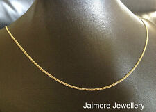 "CURB Diamond Cut 1mm Necklace 100% Real 9K Aust Gold & 925 Silver CHAIN 20""/50cm"