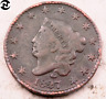 1827 Coronet Head Large Cent // VF-XF (details) // (LC413)