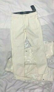 LOT of 4! Nike Mens Slim Pocket Dri Fit White Golf Pants 30/30 BV0278-133 (S4)