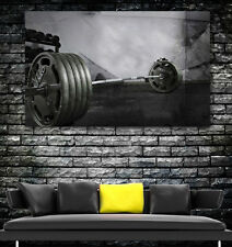WEIGHTLIFTING GYM FREE WEIGHTS FITNESS Wall Art LARGE IMAGE GIANT POSTER