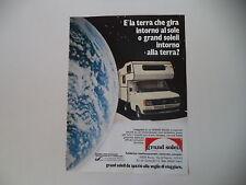 advertising Pubblicità 1981 CARAVAN GRAND SOLEIL