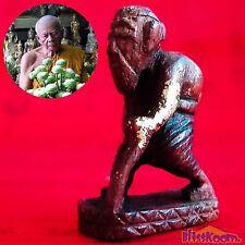 1 Chuchok Wood Lp Tim Wat Lahan Rai Lucky Rich Wealth Charm buddha Amulet Talism