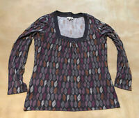 Womens Laura Ashley Leaf Pattern Top Size 16 Good Condition Long Sleeve